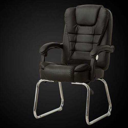 Afbeelding van QZ-7 Home moderne eenvoudige computer stoel Office Boss Chair conferentie stoel lounge stoel (zwart)