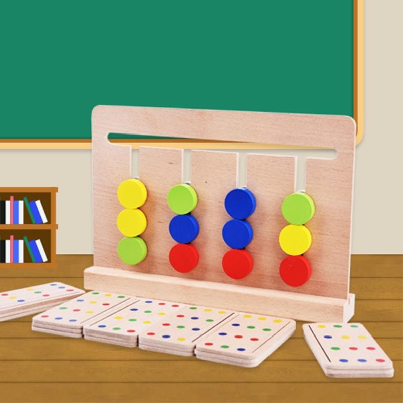Afbeelding van Baby speelgoed Montessori vier kleuren spel Color Matching voor vroege jeugd onderwijs voorschoolse opleiding leren speelgoed