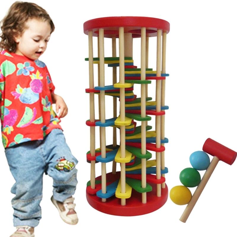 Afbeelding van Kinderen speelgoed baby onderwijsspeelgoed houten speelgoed kleur Knock bal van de Ladder tabellen speelgoed intelligentie ontwikkeling