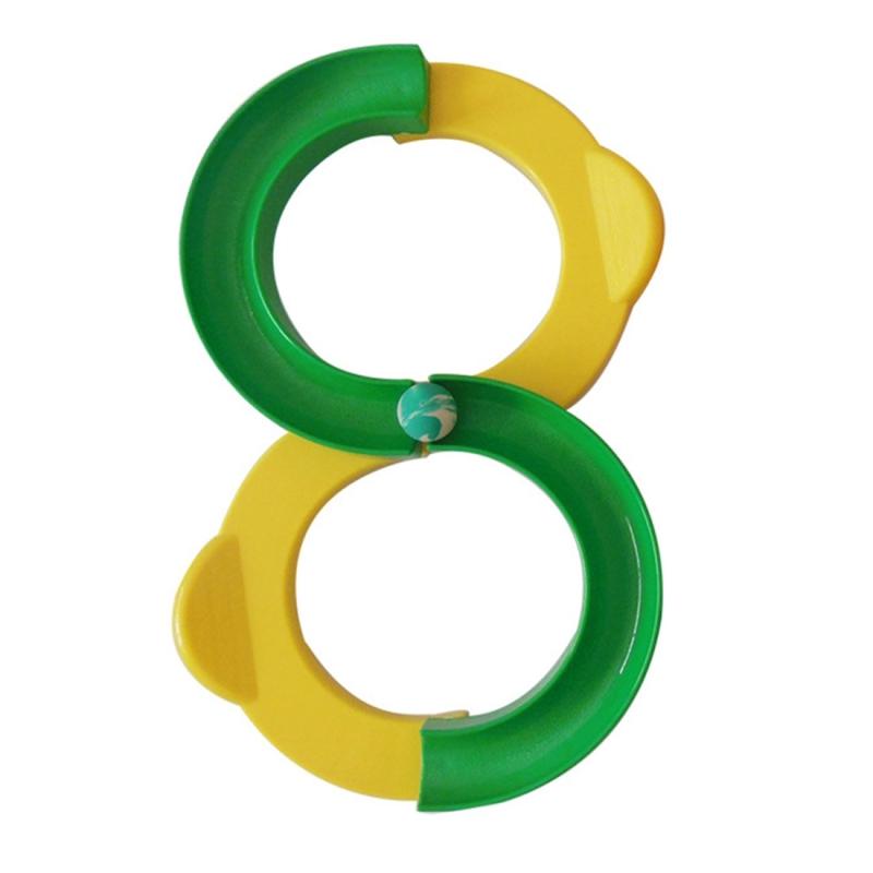 Afbeelding van Kinderen 88-vormige Railway integratie Sense opleiding speelgoed aandacht Hand-oog coördinatie educatief speelgoed grootte: 34 * 21cm (geel + groen)