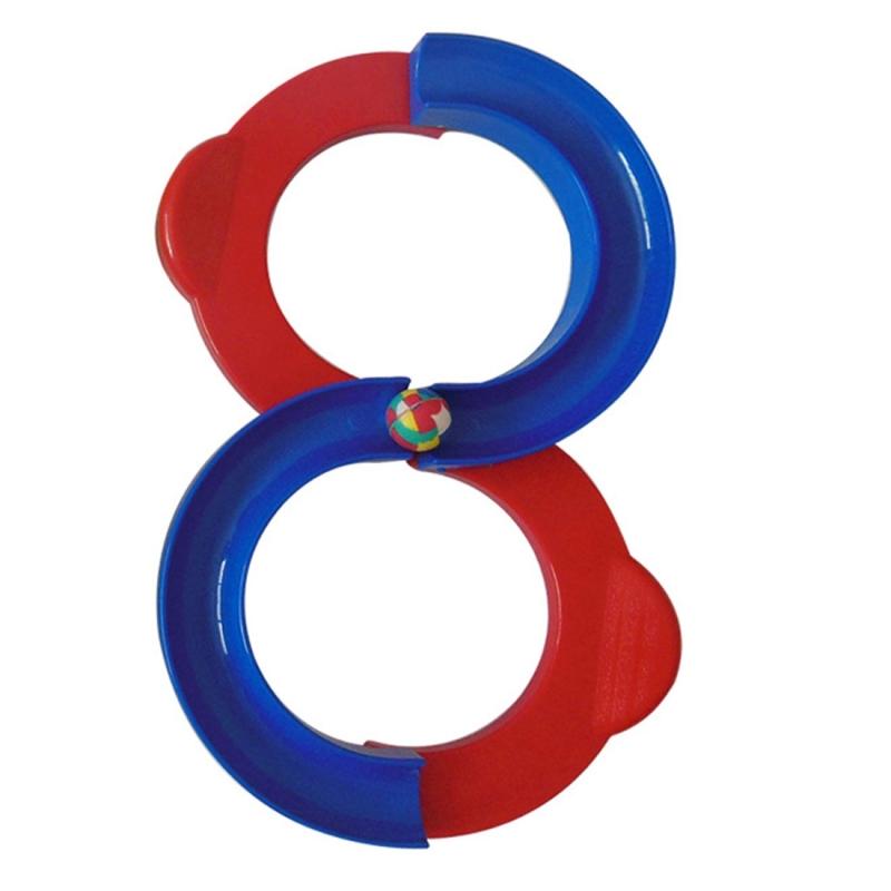 Afbeelding van Kinderen 88-vormige Railway integratie Sense opleiding speelgoed aandacht Hand-oog coördinatie educatief speelgoed grootte: 34 * 21cm (rood + blauw)