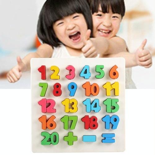 Afbeelding van Regenboog nummer 1-20 stijl kinderen vroeg onderwijs houten bouwstenen speelgoed ouder-kind interactie educatief speelgoed grootte: 32 * 32 * 3 cm