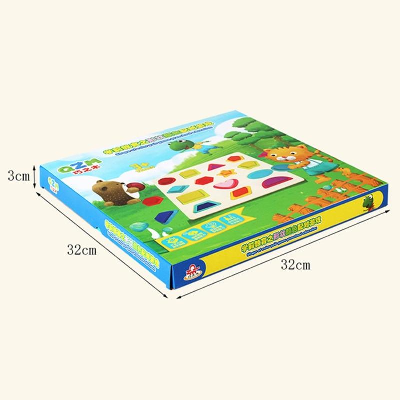 Afbeelding van Regenboog kleine Letter a-z stijl kinderen vroeg onderwijs houten bouwstenen speelgoed ouder-kind interactie educatief speelgoed grootte: 32 * 32 * 3 cm