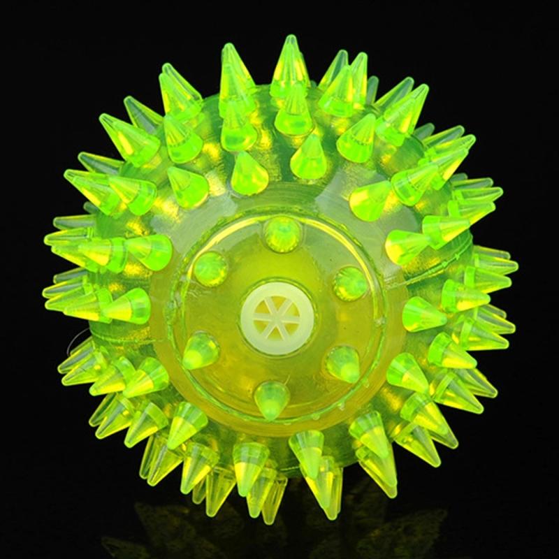 Afbeelding van Hond bal speelgoed ballen voor huisdieren kleur huisdier knipperen bal gloeiende elastische bal hond speelgoed Rubber akoestische Mimo beet speelgoed klein formaat willekeurige kleur vorm levering