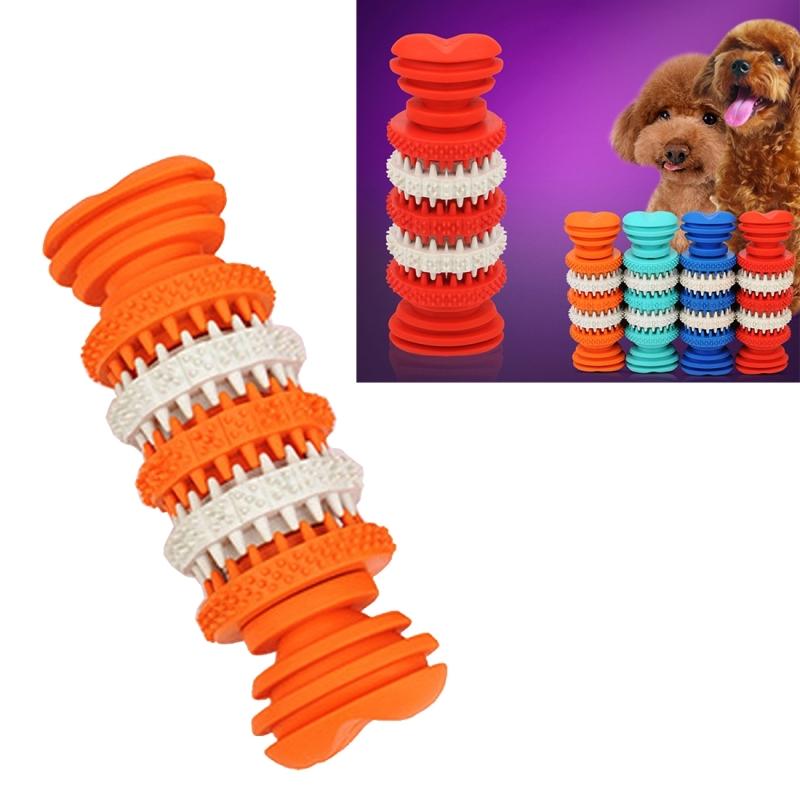 Afbeelding van Hond speelgoed voor huisdieren tand schoonmaken kauwen speelgoed van zacht Rubber niet-toxisch klein formaat lengte: 12 cm