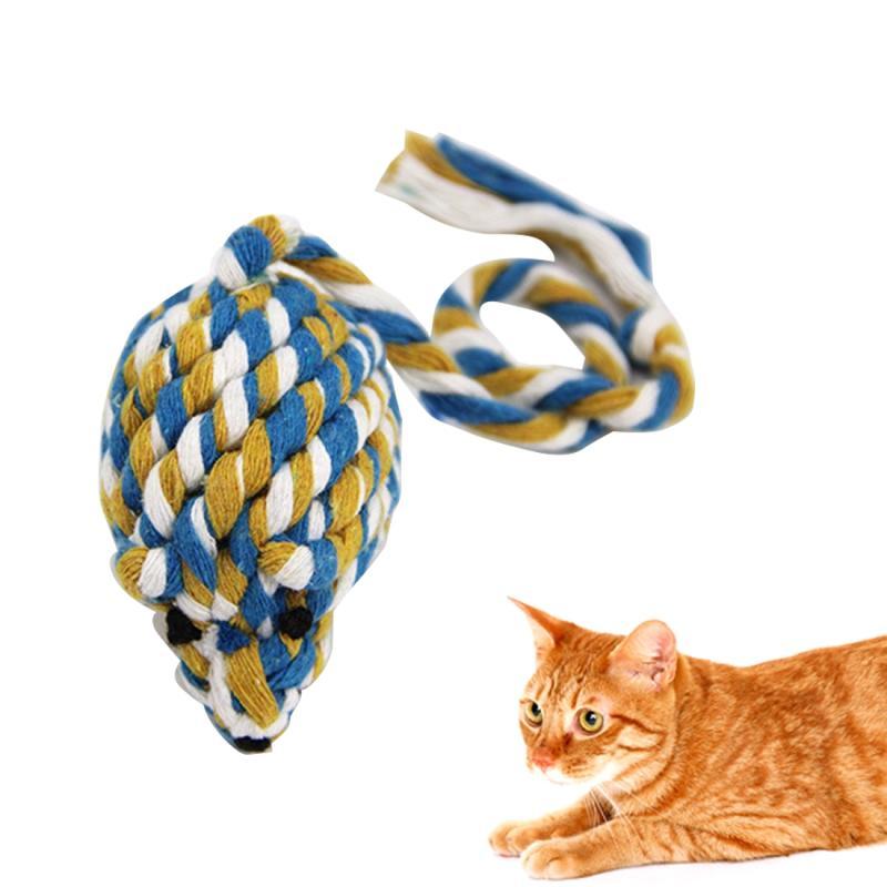 Afbeelding van Hoge kwaliteit gevlochten katoenen touw muis speelgoed opleiding huisdier speelgoed bijten