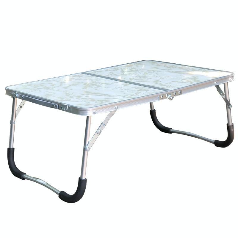 Afbeelding van Rubber Mat verstelbare draagbare Laptop tafel opklapbare Stand Computer lezing Desk Bed Tray