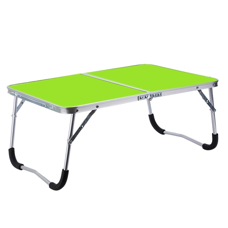 Afbeelding van Rubber mat verstelbare draagbare laptop tafel vouwen staan computer lezing Bureau bed lade (groen)
