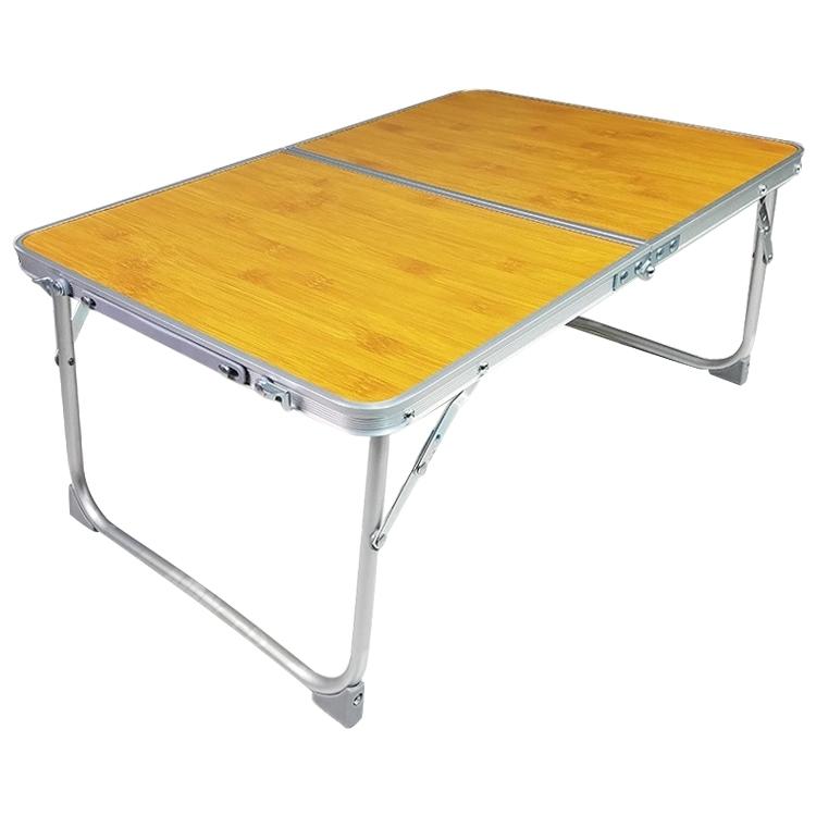 Afbeelding van Kunststof mat verstelbare draagbare laptop tafel vouwen staan computer lezing Bureau bed lade (hout)