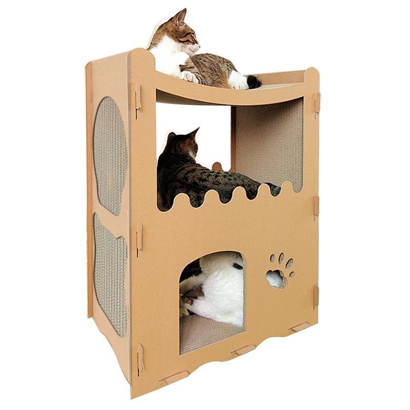Afbeelding van CP-252 kat westelijk-stijl huis gegolfd papier kras Board kattendraagstoel van de kat slijpen klauw speelgoed
