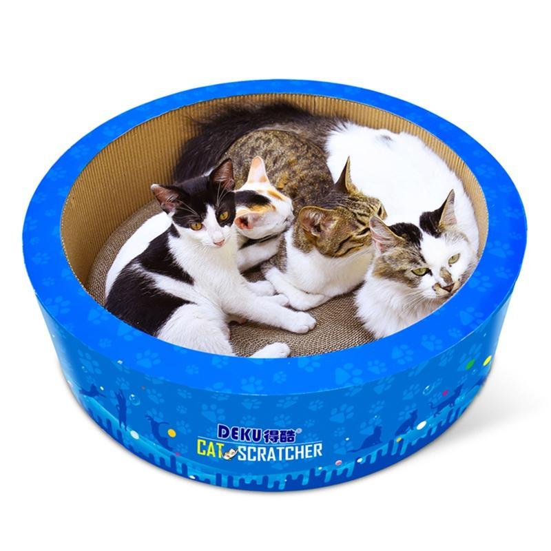 Afbeelding van CP-405 vat-vormige gegolfd papier Cat Scratch Board kat Draagstoel klauw speelgoed