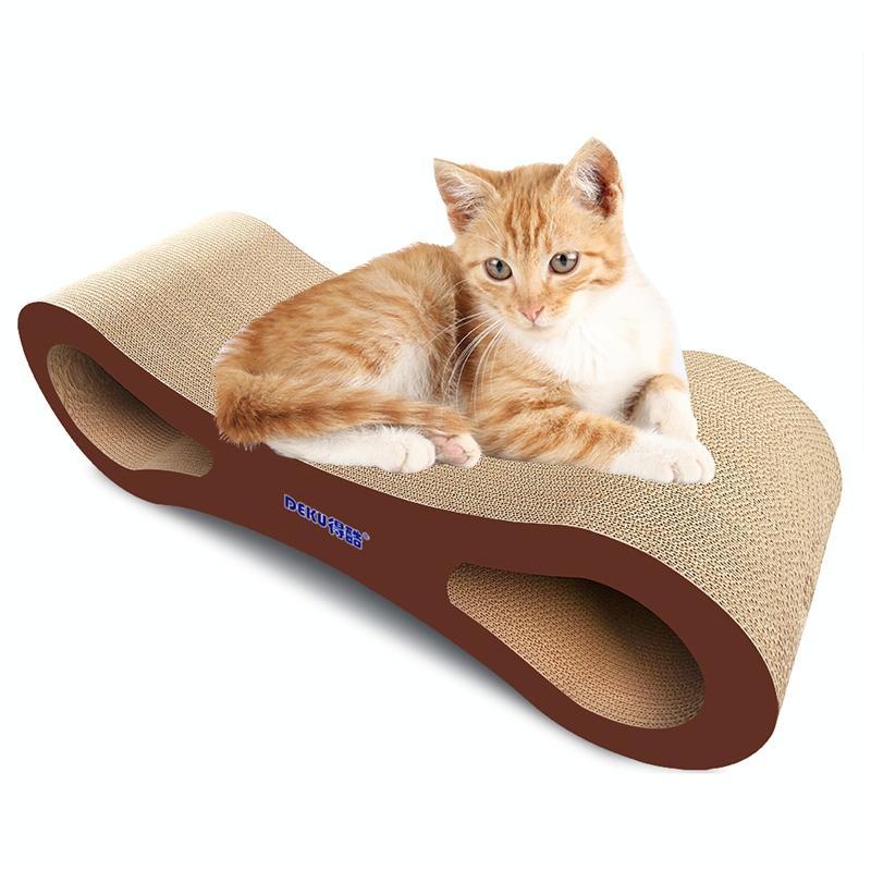 Afbeelding van 8-vormige gegolfd papier kat kras Board kat Draagstoel klauw speelgoed kat dierbenodigdheden, grootte: 86 x26. 5 cm
