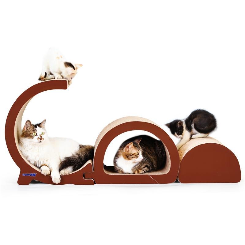 Afbeelding van GD-vormige kat nest Cat Scratch Board Cat slijpen klauw speelgoed voor kat Huisdier