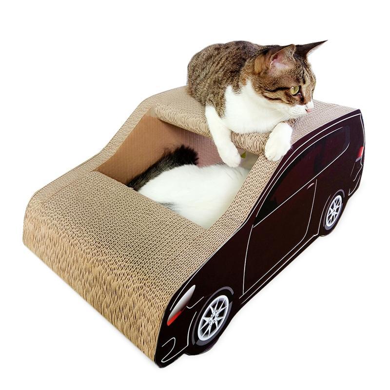 Afbeelding van SUV auto vormige kat Draagstoel gegolfd papier kat kras Board slijpen klauw speelgoed