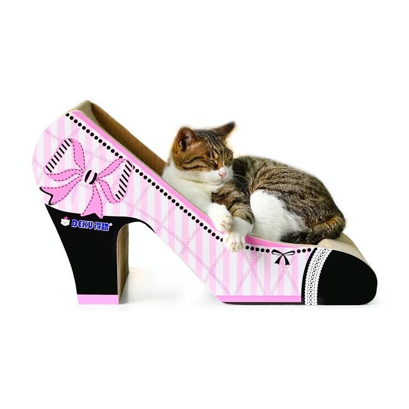 Afbeelding van CP-048 High-hiel vormige gegolfd papier Cat Scratch Board kat Draagstoel klauw speelgoed