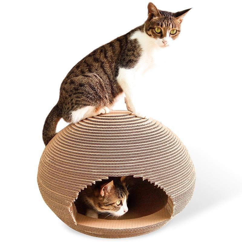 Afbeelding van CP-091 bal-vormige gegolfd papier kras Board kattendraagstoel van de kat slijpen klauw speelgoed