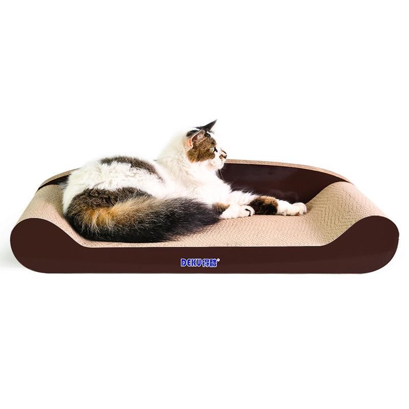 Afbeelding van Kat Sofa gegolfd papier Cat Scratch Board slijpen klauw speelgoed grootte: 70x34x14cm (koffie)