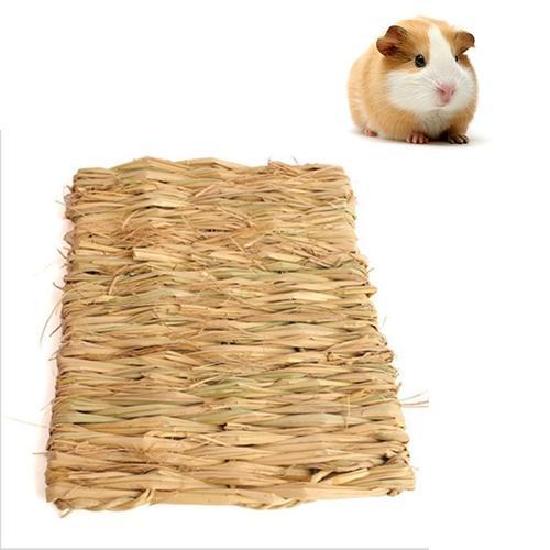 Afbeelding van Huisdier natuurlijke handgemaakte geweven stro Mat konijn cavia gras Mat klein grootte: 28 * 21cm