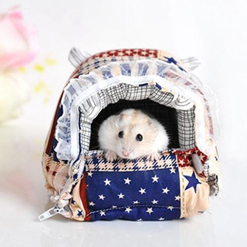 Afbeelding van Huisdier rits wasbaar huisdier huisdieren huis Warm Nest gedrukt zacht Bed opvouwbare spons Nest S grootte: 14 * 13 * 10cm
