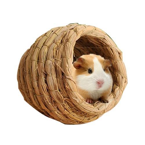 Afbeelding van Huisdier natuurlijke handgemaakte Hamster Nest Nest fokken stro vogeltje voor kleine huisdieren