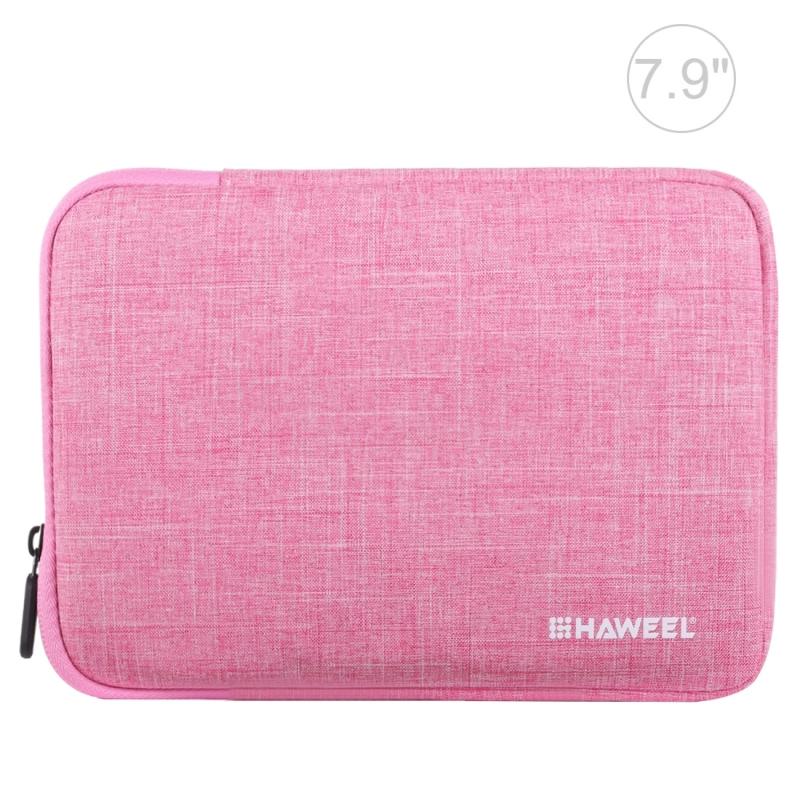 Afbeelding van HAWEEL 7 9 inch mouw geval rits werkmap uitvoering tas voor de iPad mini 4 / iPad mini 3 / iPad mini 2 / iPad mini Galaxy Lenovo Sony Xiaomi Huawei 7 9 inch Tablets(Pink)