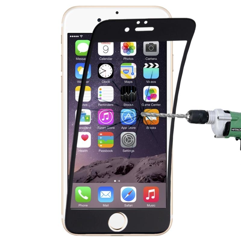 Afbeelding van 0.1mm 9H volledige scherm flexibele vezel getemperd glas Film voor iPhone 6 & 6s(Black)