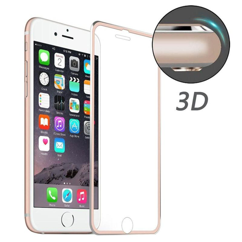 ENKAY voor iPhone 8 Plus & iPhone 7 Plus Hat-Prins 0.2mm 9H oppervlakte hardheid 3D aluminiumlegering gebogen rand explosieveilige getemperd glas scherm Protector(Rose Gold)
