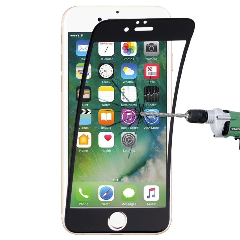 Afbeelding van 0.1mm 9H volledige scherm flexibele vezel getemperd glas Film voor iPhone 8 & 7(Black)