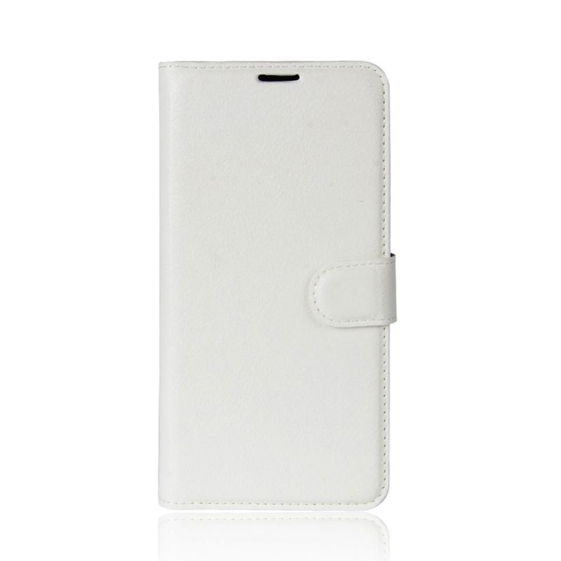 iPhone 8 horizontaal Litchi structuur PU leren Flip Hoesje met foto frame, houder en opbergruimte voor pinpassen & geld Wit