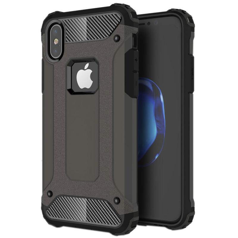 For iPhone X  Magic Armor TPU + PC Combination Case(Bronze)