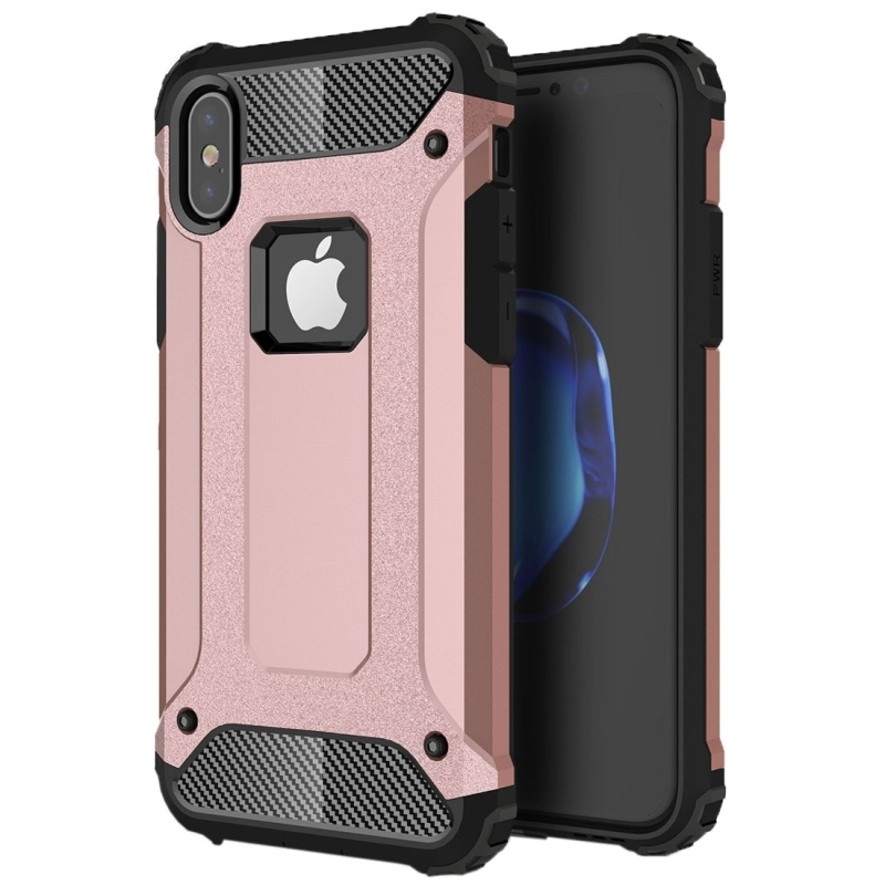 For iPhone X  Magic Armor TPU + PC Combination Case(Rose Gold)