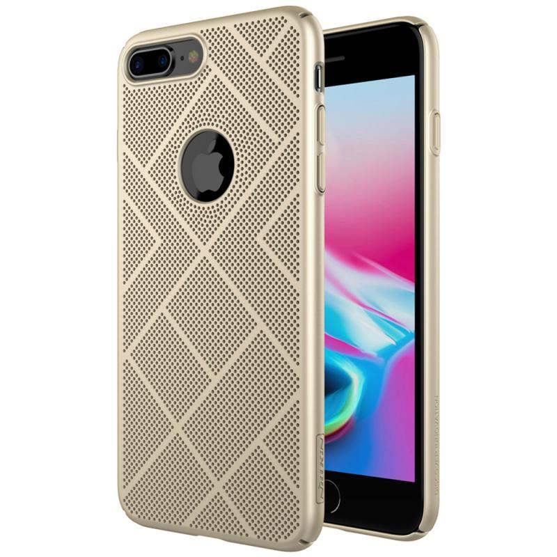 iPhone 7 Plus & 8 Plus warmte afvoerend Kunststof NILLKIN Air back cover Hoesje (goudkleurig)