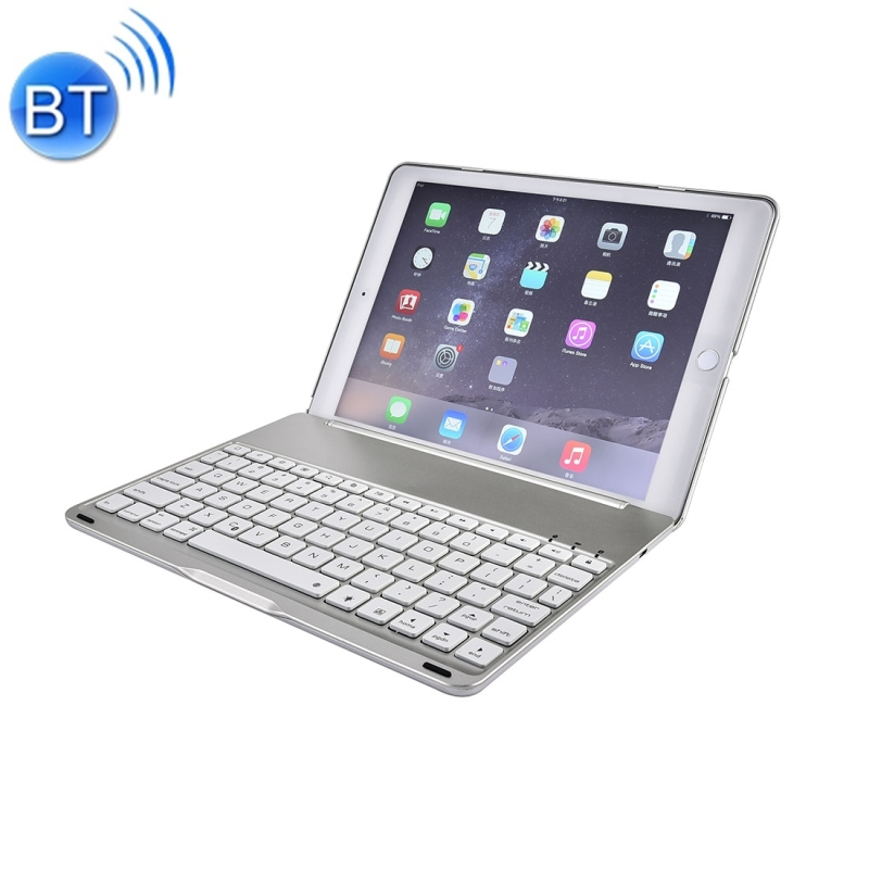 For iPad Pro 9.7 inch Aluminium Alloy Wireless Bluetooth 4.0 Backlight Keyboard(Silver)
