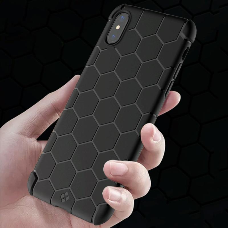 Afbeelding van TOTUDESIGN voor iPhone X Nest serie TPU Shockproof beschermende zachte Case(Black)