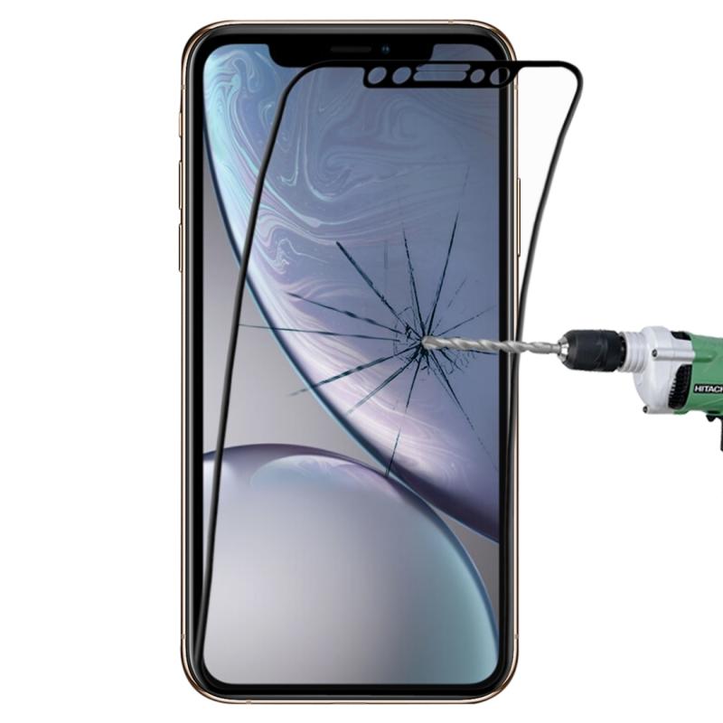 Afbeelding van 0.1mm 9H volledige scherm flexibele vezel getemperd glas Film voor iPhone XR (zwart)