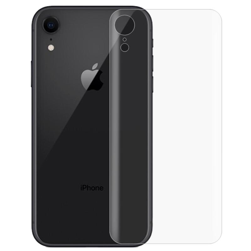Afbeelding van 0.1 mm 3D gebogen rand HD PET terug Full Screen Protector voor iPhone XR