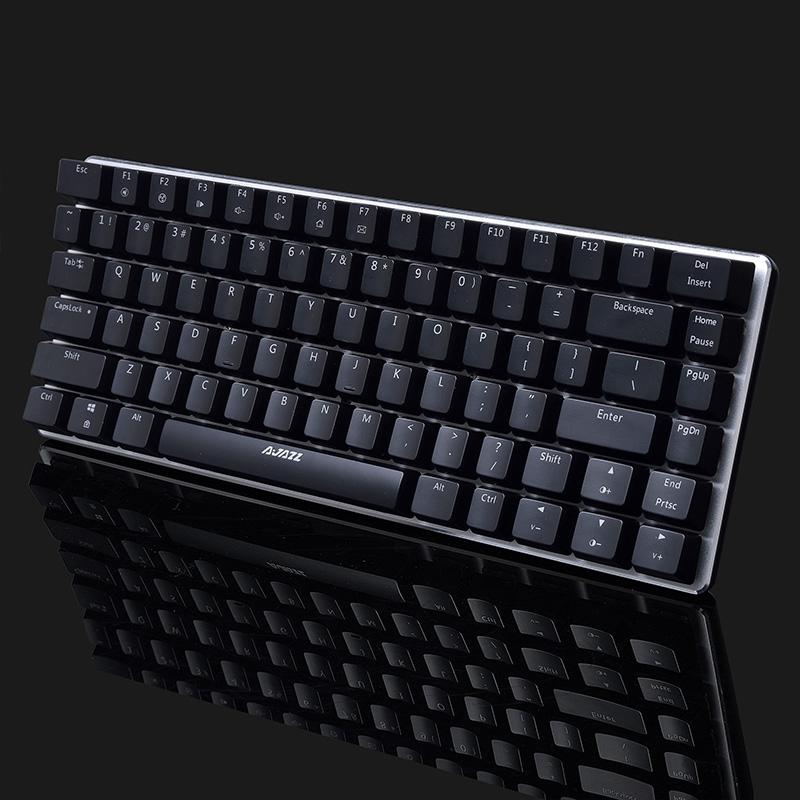Afbeelding van Ajazz 82 toetsen laptop computer gaming mechanische toetsenbord (zwarte blauwe schacht)