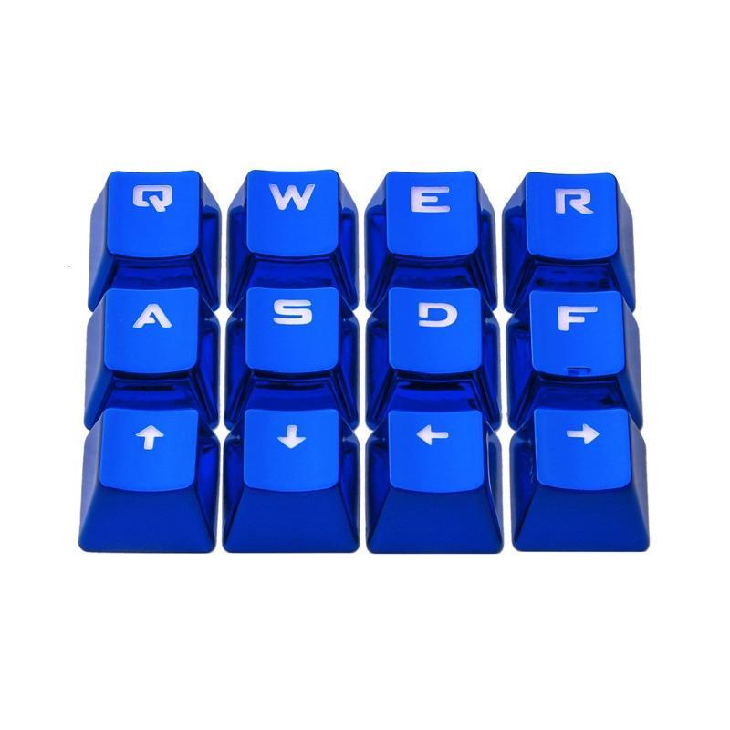 Afbeelding van Ajazz AK33 12 toetsen laptop computer mechanische toetsenbord doorschijnend Keycap (blauw)