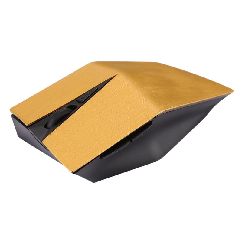 Afbeelding van 2.4 GHz USB-ontvanger verstelbare 1200 DPI draadloze optische muis voor Computer PC Laptop (geel)