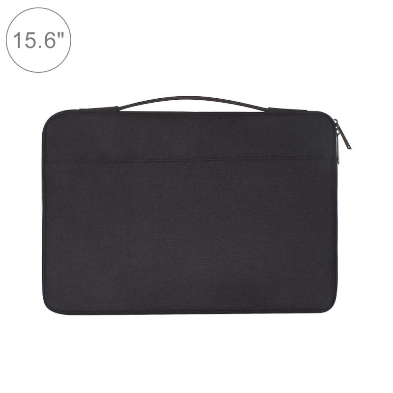 Afbeelding van 15.6 inch Fashion Casual Polyester + Nylon handtas aktetas laptop Cover laptoptas voor Macbook Samsung Lenovo Xiaomi Sony DELL CHUWI ASUS HP(Black)