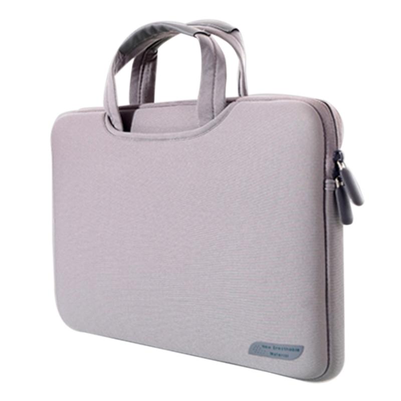Afbeelding van 15 6 inch draagbare permeabele Handheld mouw airbag voor Laptops grootte: 41.5x30.0x3.5cm(Grey)