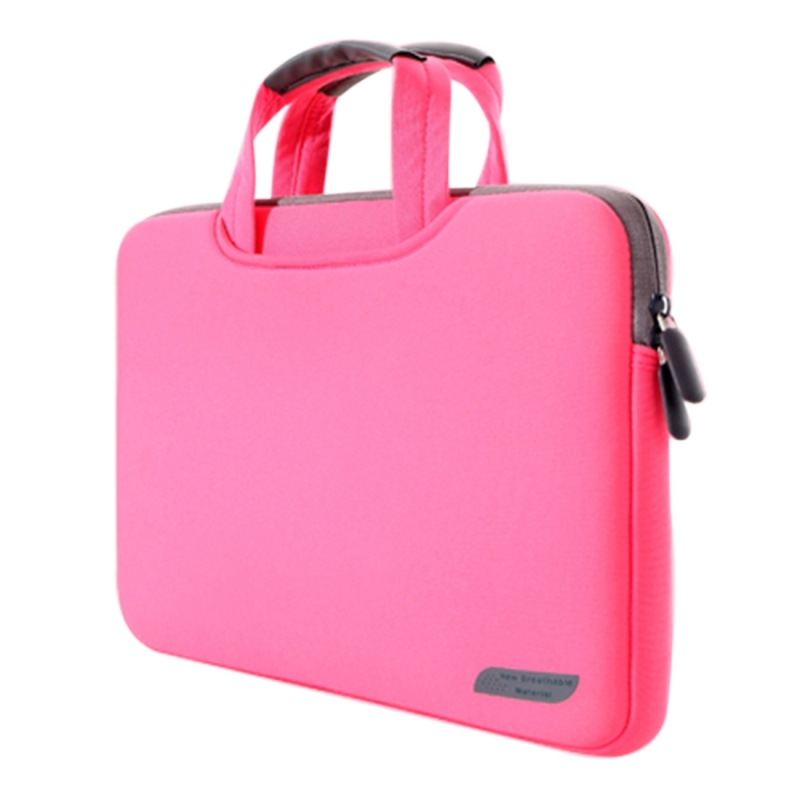 Afbeelding van 15 6 inch draagbare permeabele Handheld mouw airbag voor Laptops grootte: 41.5x30.0x3.5cm(Magenta)