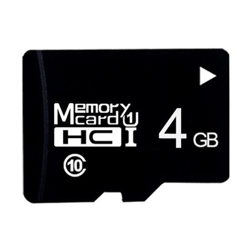 4GB hoge snelheid Class10 Black TF (micro SD) geheugenkaart