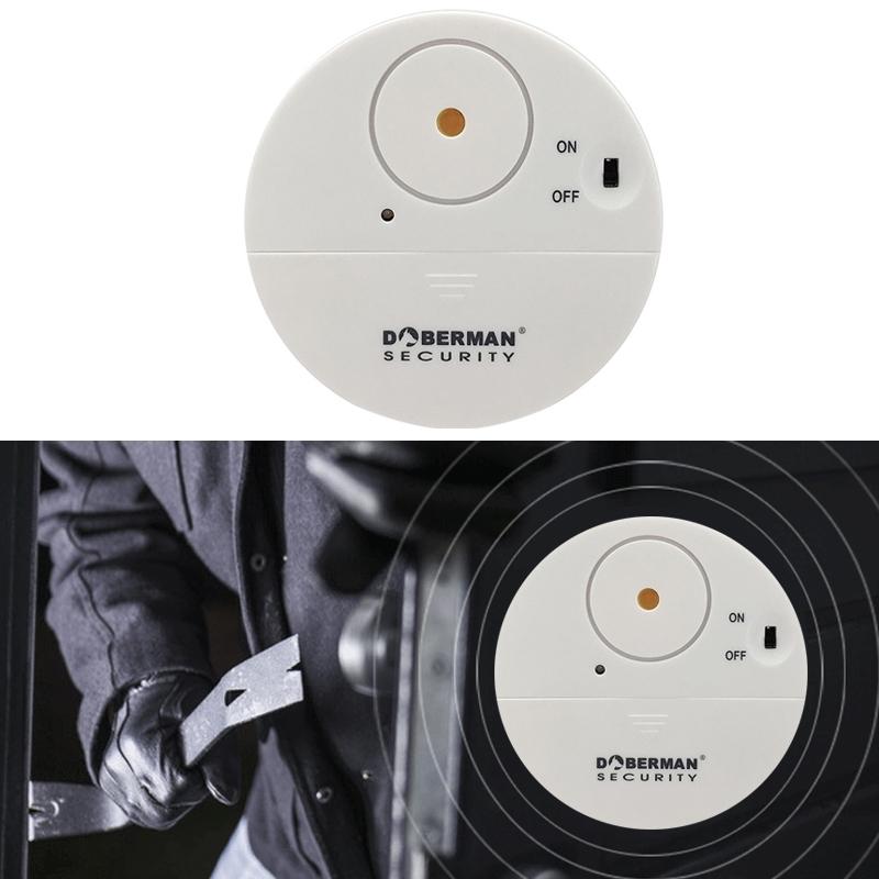 DOBERMAN SE-0106 Ultra-slim Round Door / Window Alert Detect Vibration Sensor Alarm for Home Alarms Security(White)