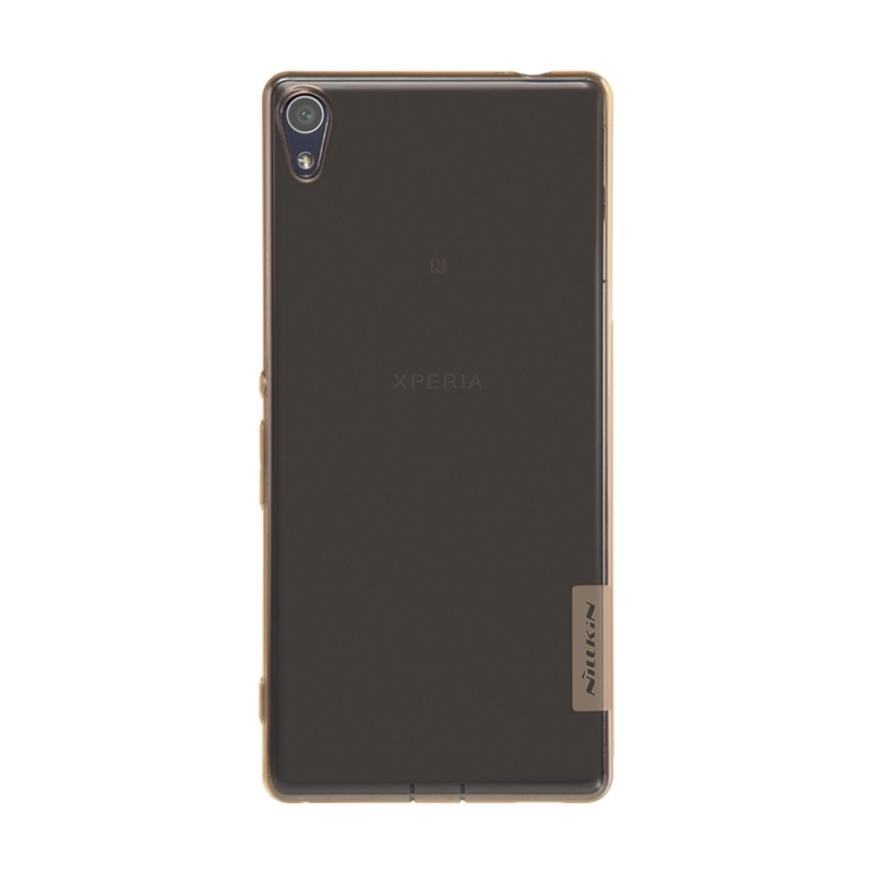 Sony Xperia XA Ultra Stijlvol ultra-dun 0.6mm NILLKIN Nature beschermend zacht TPU back cover Hoesje (bruin) - In de aanbieding bij i-Mania.nl