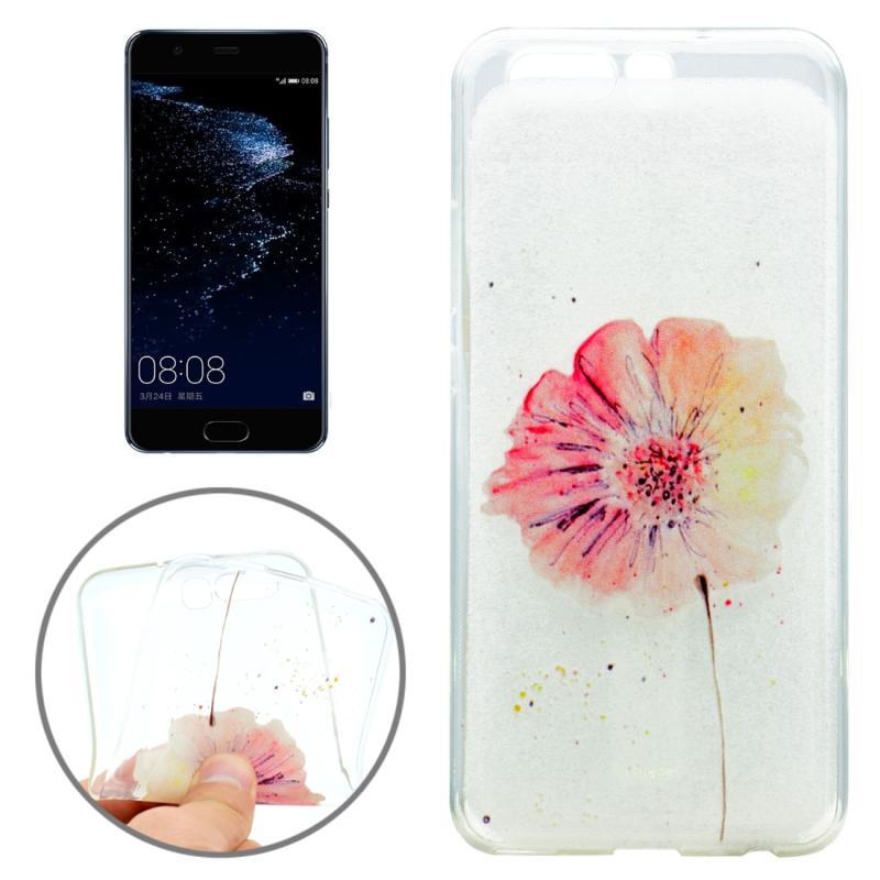 Huawei P10 Bloemen patroon zacht TPU beschermend Back Cover Hoesje