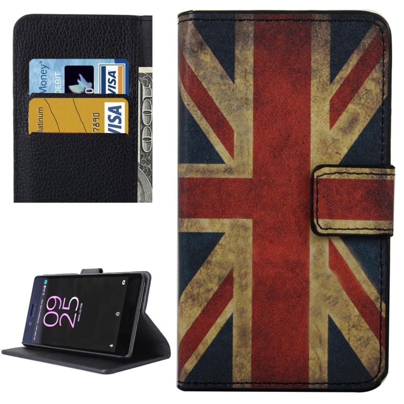 Afbeelding van Voor Sony Xperia X Performance UK Vlag patroon lederen hoesje met houder & opbergruimte voor pinpassen & portemonnee
