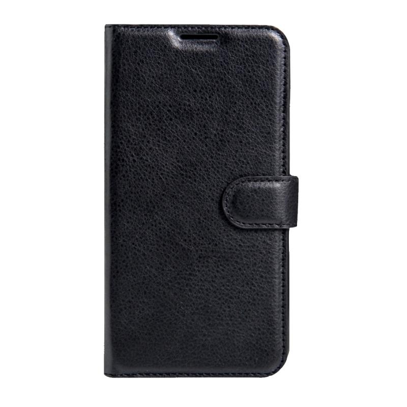 Sony Xperia XZs & XZ horizontaal Litchi structuur PU leren Flip Hoesje met houder  magnetische sluiting en opbergruimte voor pinpassen & geld (zwart)