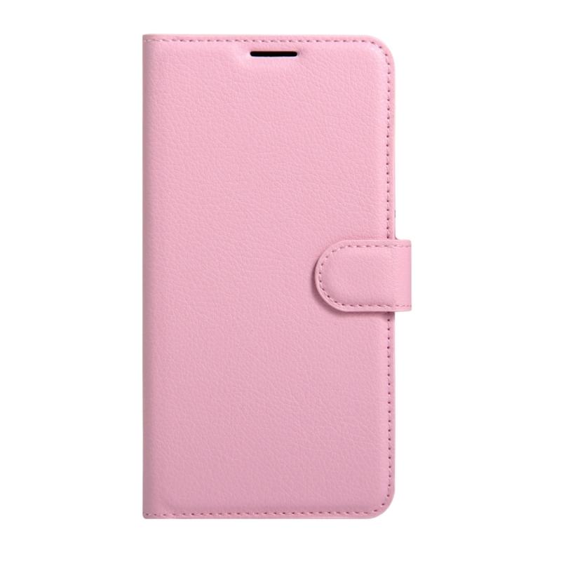Sony Xperia XZs & XZ horizontaal Litchi structuur PU leren Flip Hoesje met houder  magnetische sluiting en opbergruimte voor pinpassen & geld (roze)