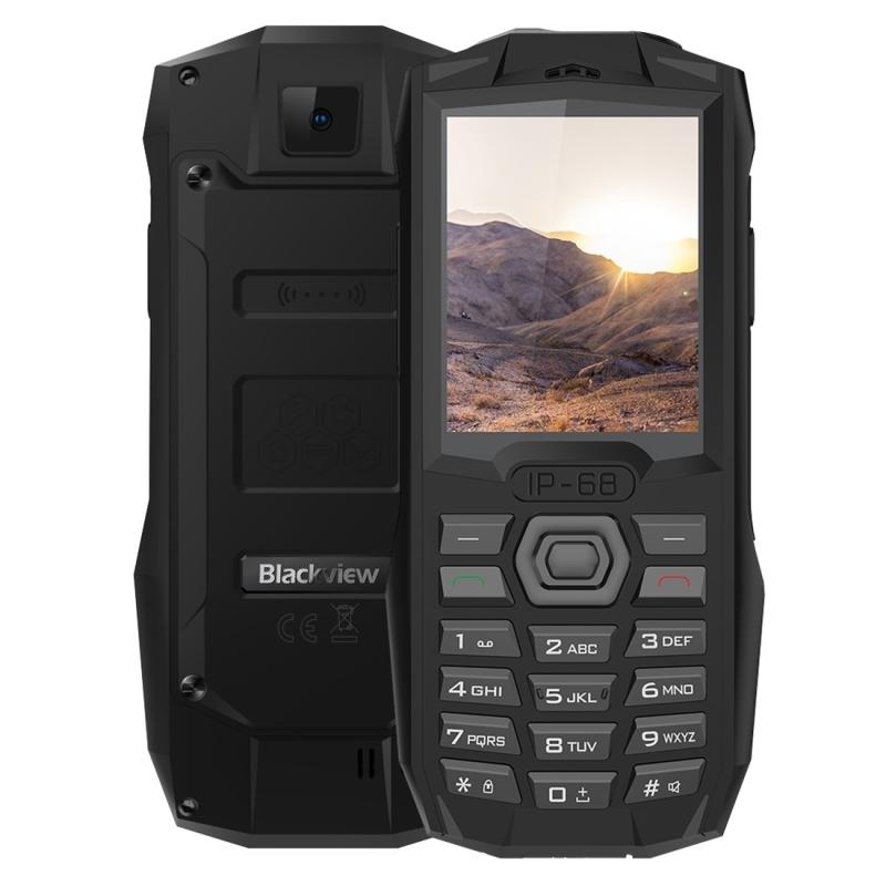 Afbeelding van Blackview BV1000 robuuste telefoon IP68 waterdichte stofdicht schokbestendig 3000mAh accu 2.4 inch FM Bluetooth Network: 2G Dual SIM (zwart)